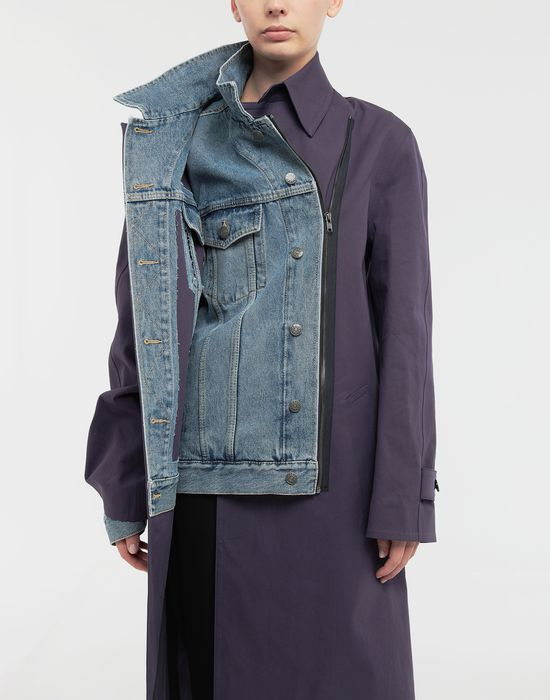 MAISON MARGIELA Bonded twill and denim coat Coat [*** pickupInStoreShipping_info ***] a
