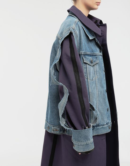 MAISON MARGIELA Bonded twill and denim coat Coat [*** pickupInStoreShipping_info ***] b