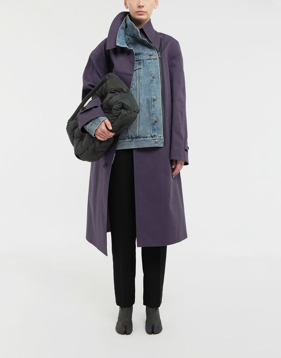 MAISON MARGIELA Bonded twill and denim coat Coat [*** pickupInStoreShipping_info ***] d