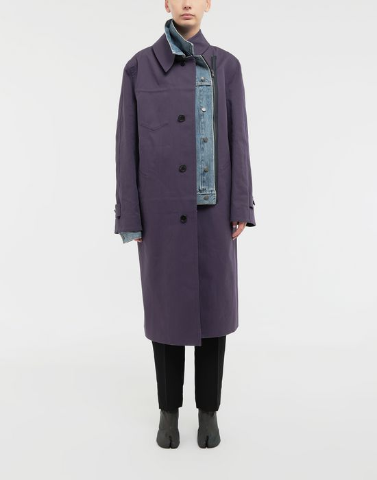 MAISON MARGIELA Bonded twill and denim coat Coat [*** pickupInStoreShipping_info ***] r