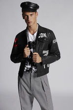 DSQUARED2 Black Bull Dan Denim Jacket Kaban Man