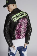 DSQUARED2 Lamb Leather Kiodo With Dsquared2 Logo On The Back  Kaban Man