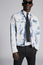 DSQUARED2 Shreaded Bleach Dan Denim Jacket Denim outerwear Man