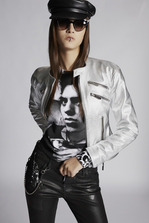 DSQUARED2 Lamb Leather Multizip Edyta Jacket Leather outerwear Woman