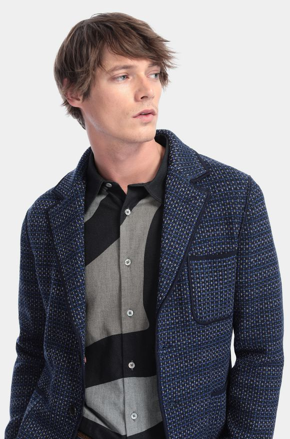 MISSONI Jacket Dark blue Man