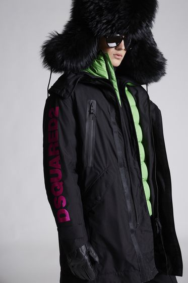 DSQUARED2 Dsquared2 Nylon Ski Parka With Puffer Jacket Пальто Для Мужчин