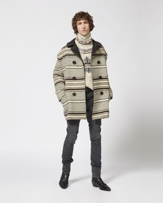 HARDY striped coat