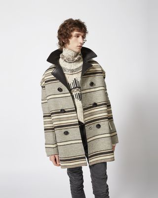 ISABEL MARANT COAT Man HARDY striped coat r