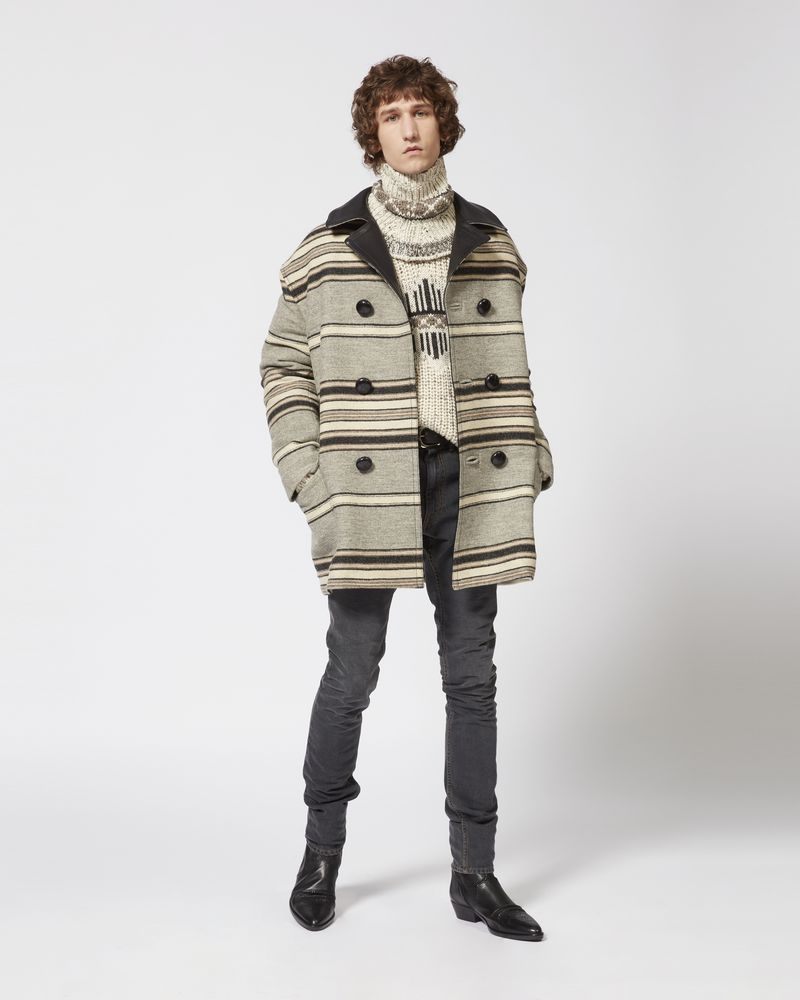 HARDY striped coat ISABEL MARANT