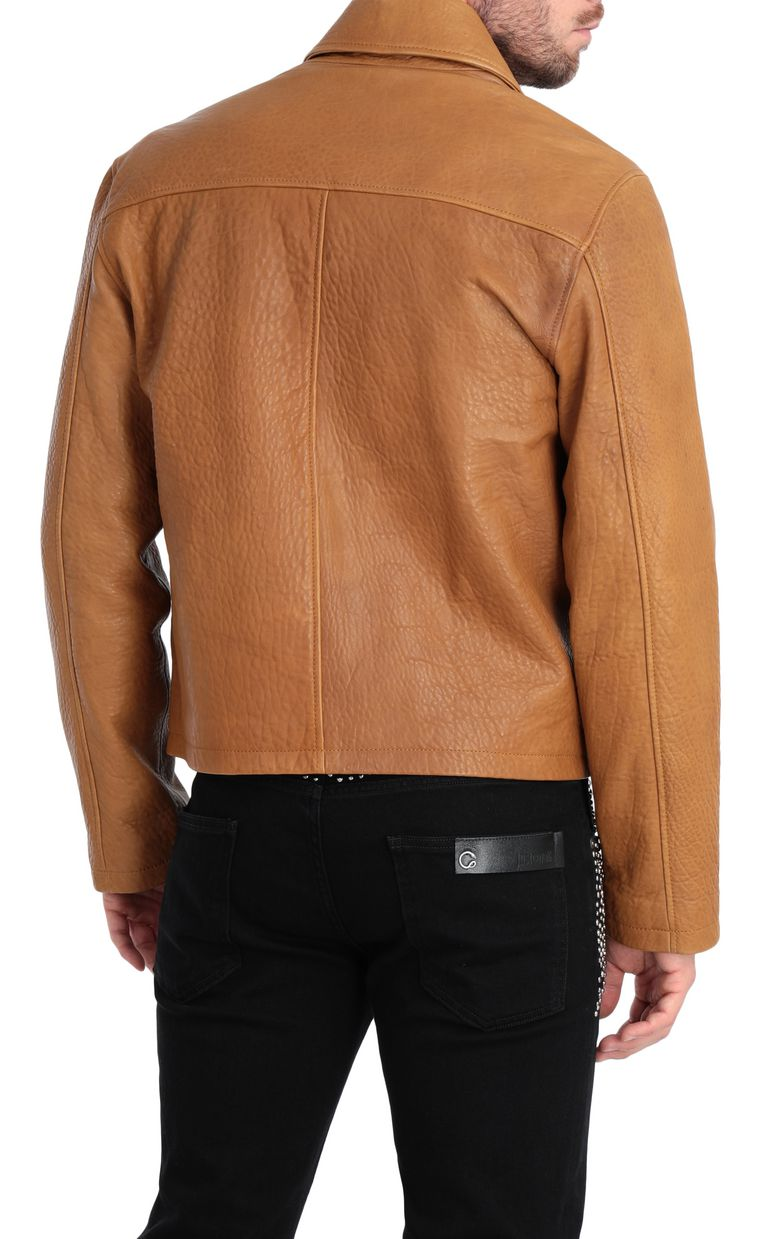JUST CAVALLI Brown-leather jacket Leather Jacket Man r