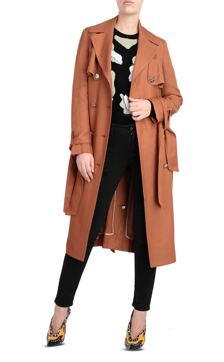 JUST CAVALLI Double-breasted belted trench coat Raincoat Woman d