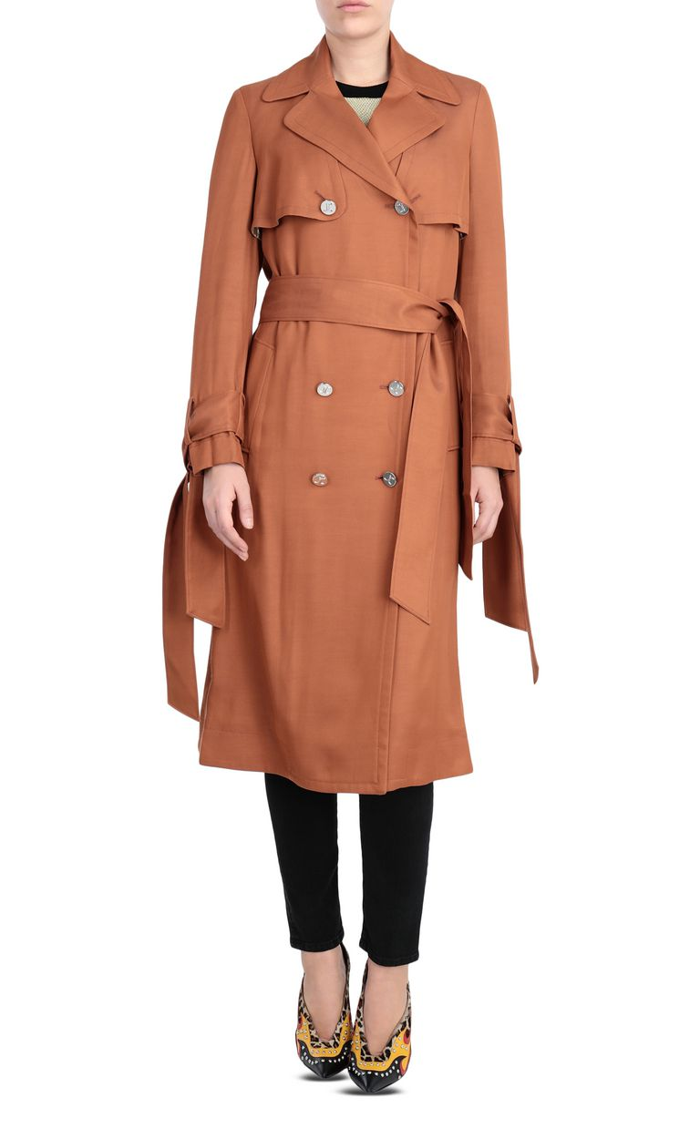 JUST CAVALLI Double-breasted belted trench coat Raincoat Woman f