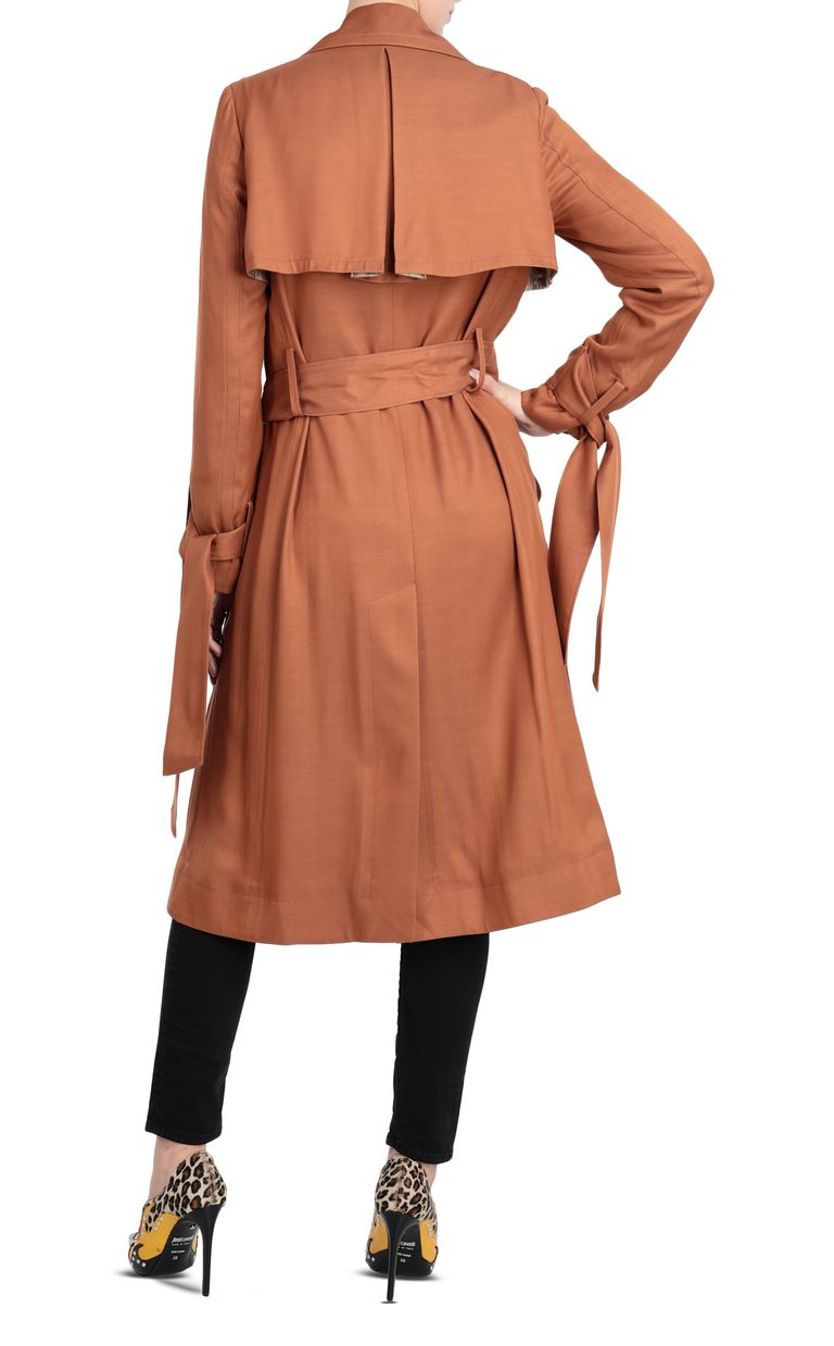 JUST CAVALLI Double-breasted belted trench coat Raincoat Woman r