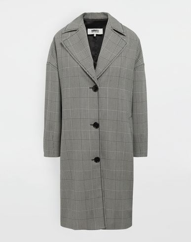 MM6 MAISON MARGIELA Coat [*** pickupInStoreShipping_info ***] Oversized checked coat f