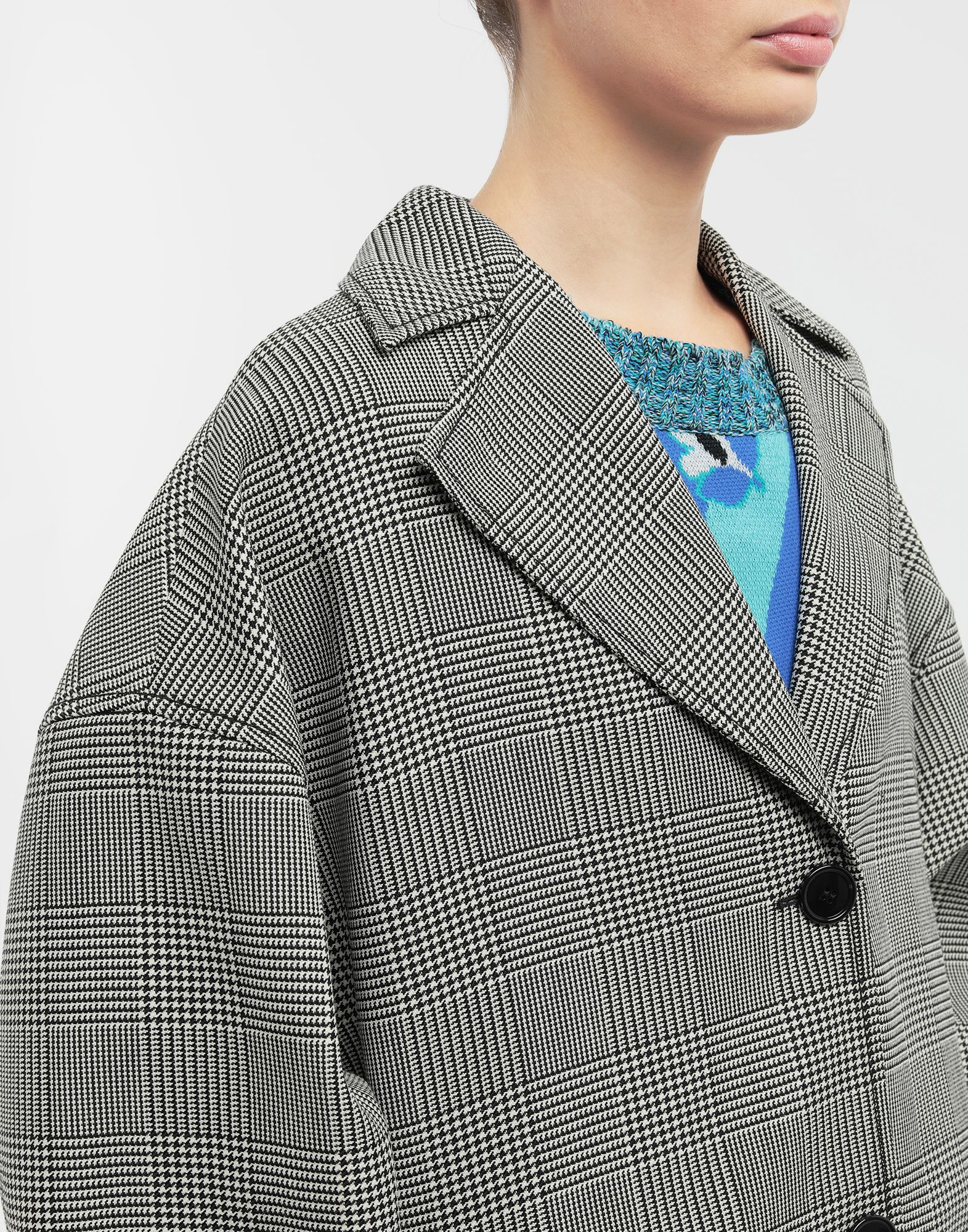 MM6 MAISON MARGIELA Oversized checked coat Coat Woman a