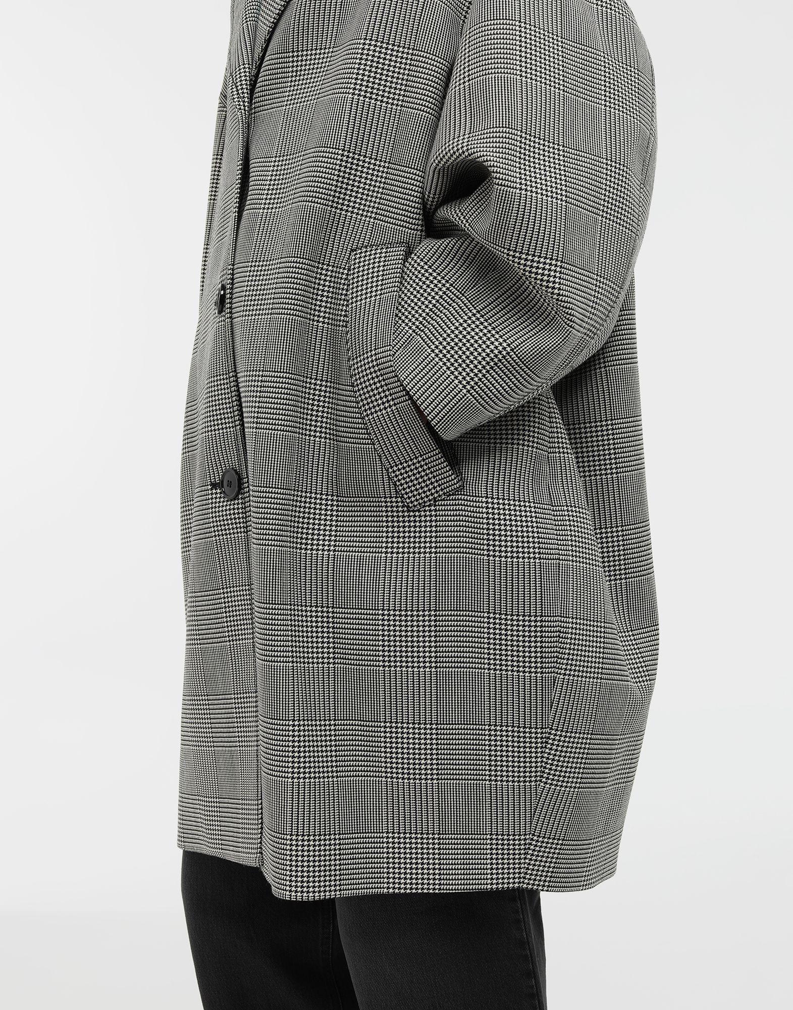 MM6 MAISON MARGIELA Oversized checked coat Coat Woman b