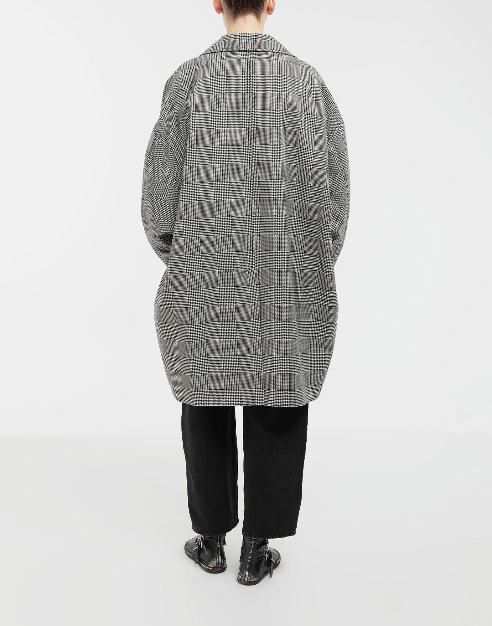 MM6 MAISON MARGIELA Oversized checked coat Coat Woman e