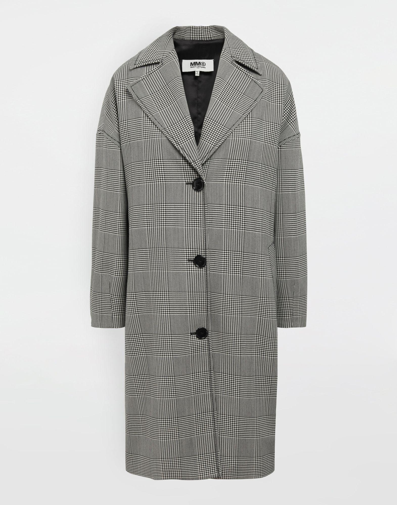 MM6 MAISON MARGIELA Oversized checked coat Coat Woman f