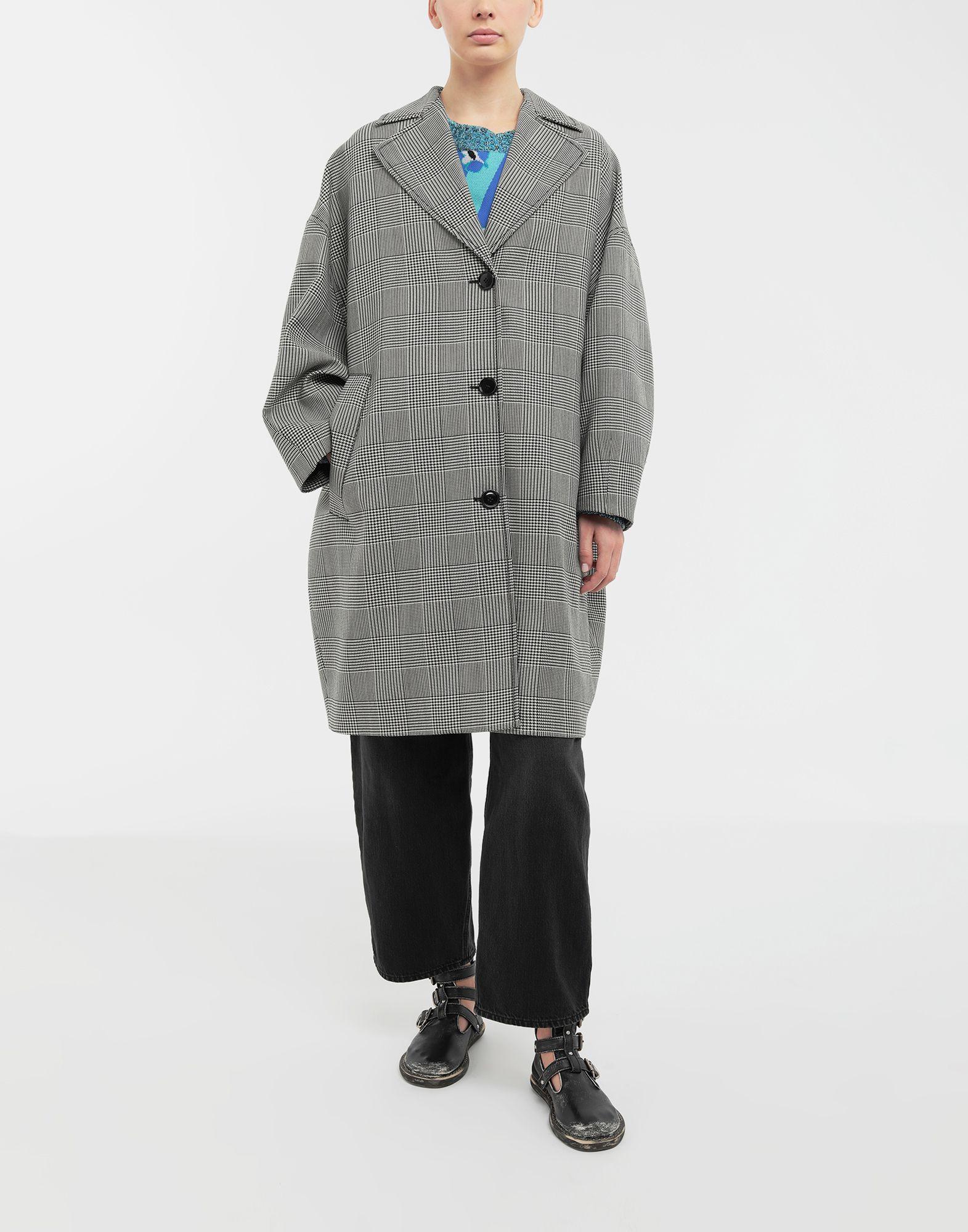MM6 MAISON MARGIELA Oversized checked coat Coat Woman r