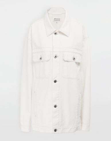 MAISON MARGIELA Digital Floral-print oversized denim jacket  Jacket [*** pickupInStoreShipping_info ***] f