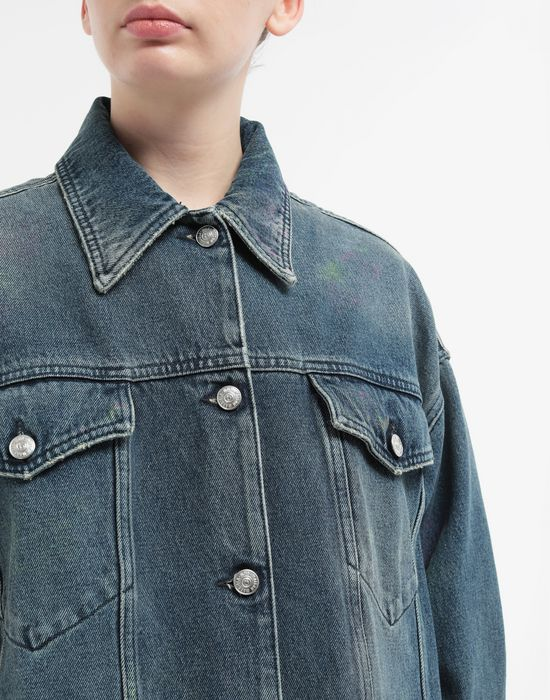 MM6 MAISON MARGIELA Oversized highlighter-treated denim jacket Light jacket [*** pickupInStoreShipping_info ***] a