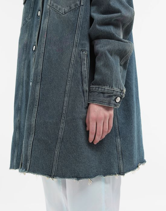 MM6 MAISON MARGIELA Oversized highlighter-treated denim jacket Light jacket [*** pickupInStoreShipping_info ***] b
