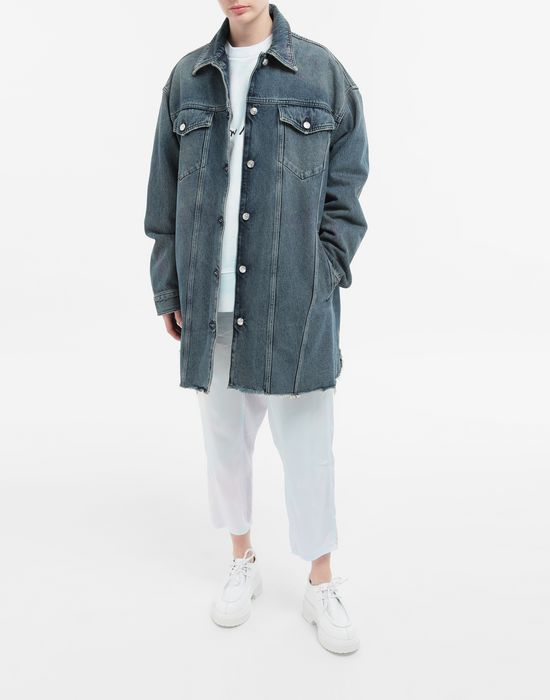 MM6 MAISON MARGIELA Oversized highlighter-treated denim jacket Light jacket [*** pickupInStoreShipping_info ***] d