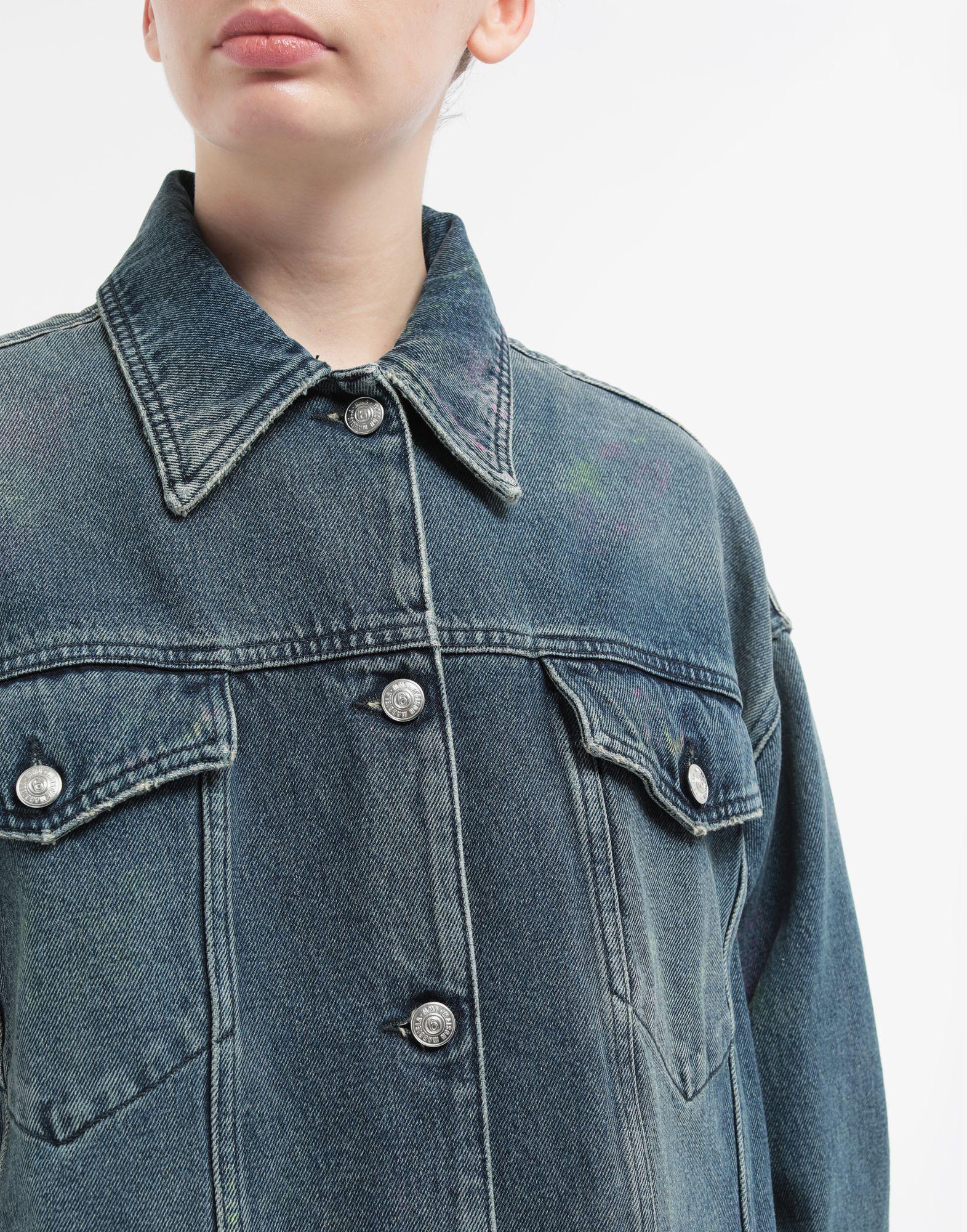 MM6 MAISON MARGIELA Oversized highlighter-treated denim jacket Light jacket Woman a