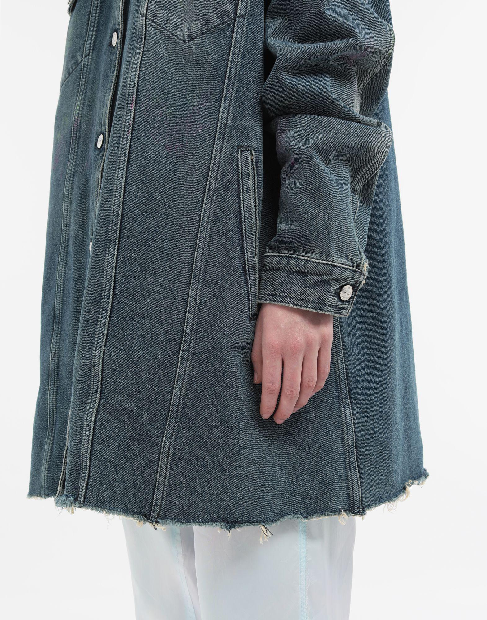 MM6 MAISON MARGIELA Oversized highlighter-treated denim jacket Light jacket Woman b