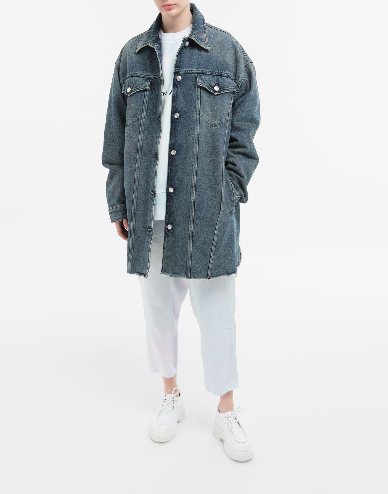 MM6 MAISON MARGIELA Oversized highlighter-treated denim jacket Light jacket Woman d