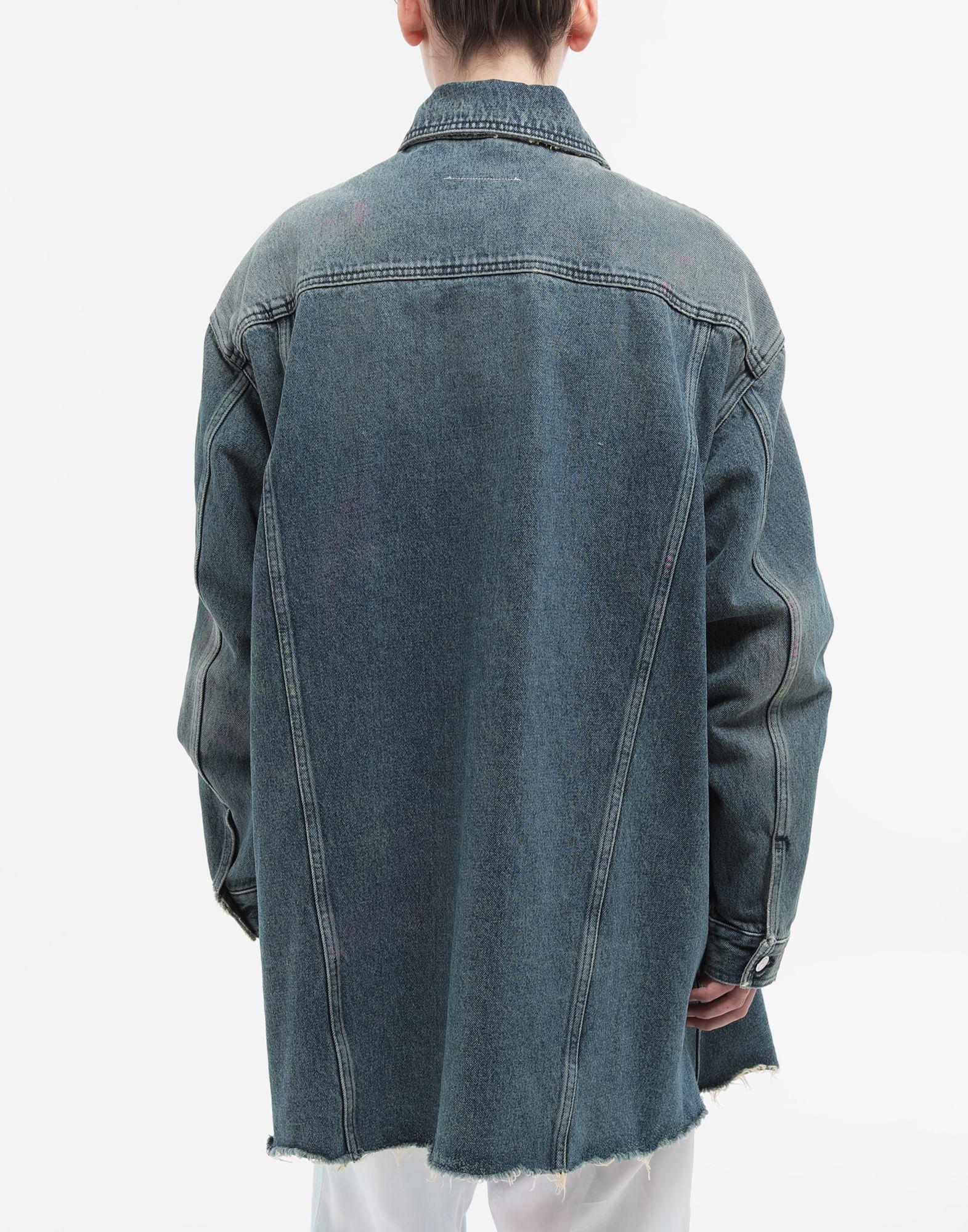 MM6 MAISON MARGIELA Oversized highlighter-treated denim jacket Jacket Woman e