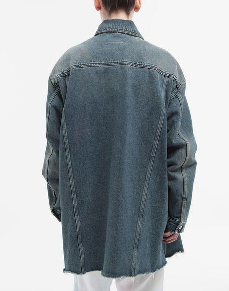 MM6 MAISON MARGIELA Oversized highlighter-treated denim jacket Light jacket Woman e
