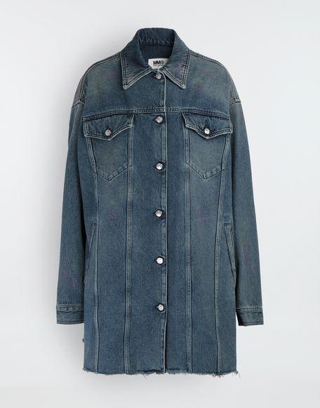 MM6 MAISON MARGIELA Oversized highlighter-treated denim jacket Light jacket Woman f