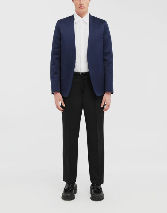 MAISON MARGIELA Collarless heavy satin jacket Blazer [*** pickupInStoreShippingNotGuaranteed_info ***] d