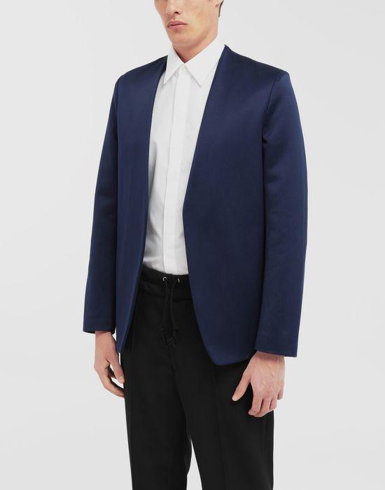 MAISON MARGIELA Collarless heavy satin jacket Blazer [*** pickupInStoreShippingNotGuaranteed_info ***] r