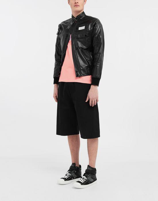 MAISON MARGIELA Logo tab military leather jacket Leather Jacket [*** pickupInStoreShippingNotGuaranteed_info ***] d