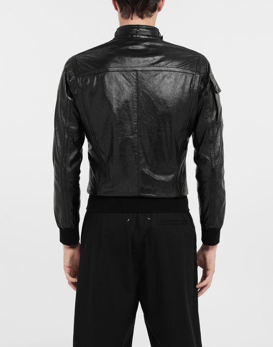 MAISON MARGIELA Logo tab military leather jacket Leather Jacket [*** pickupInStoreShippingNotGuaranteed_info ***] e