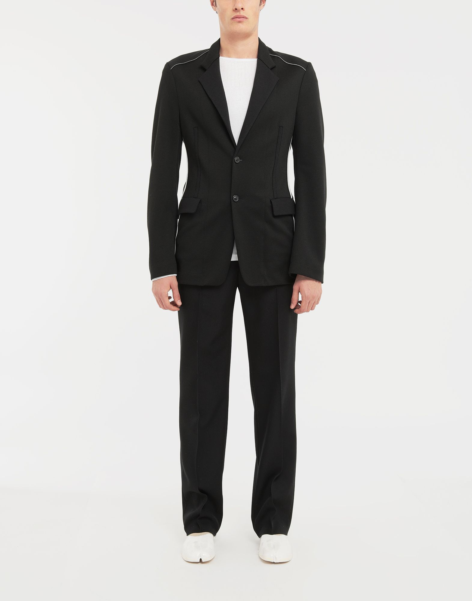 MAISON MARGIELA Exposed seam jersey jacket Blazer Man d