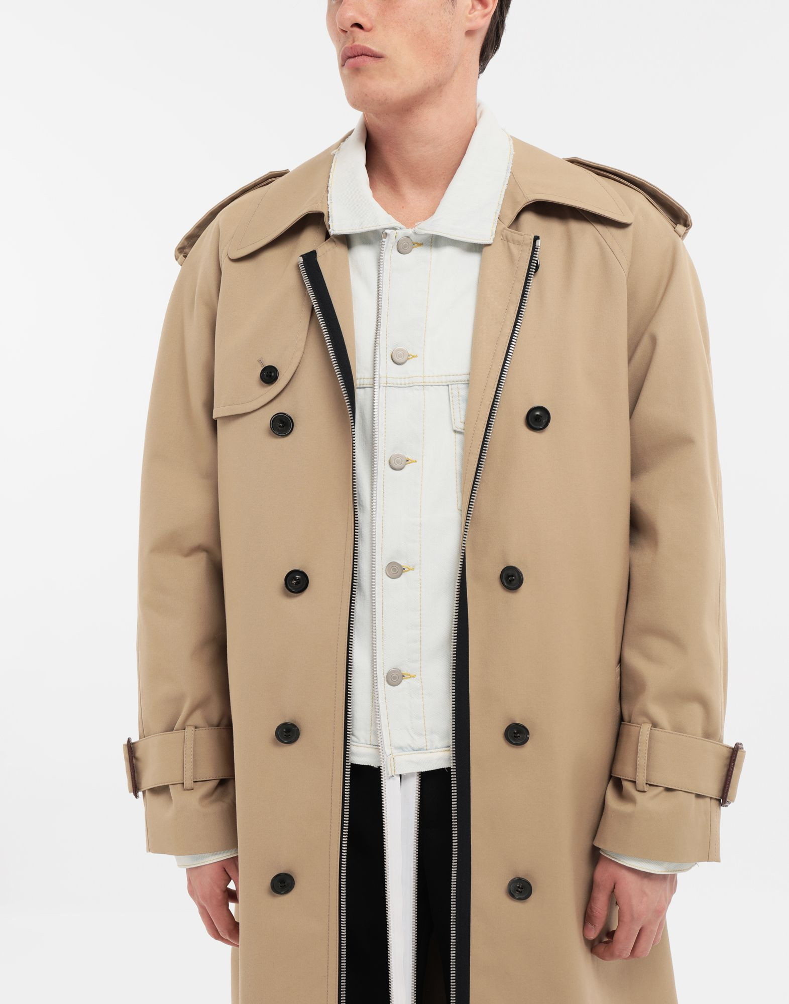 MAISON MARGIELA Zip In - Zip Out reversible denim trench coat Coat Man b