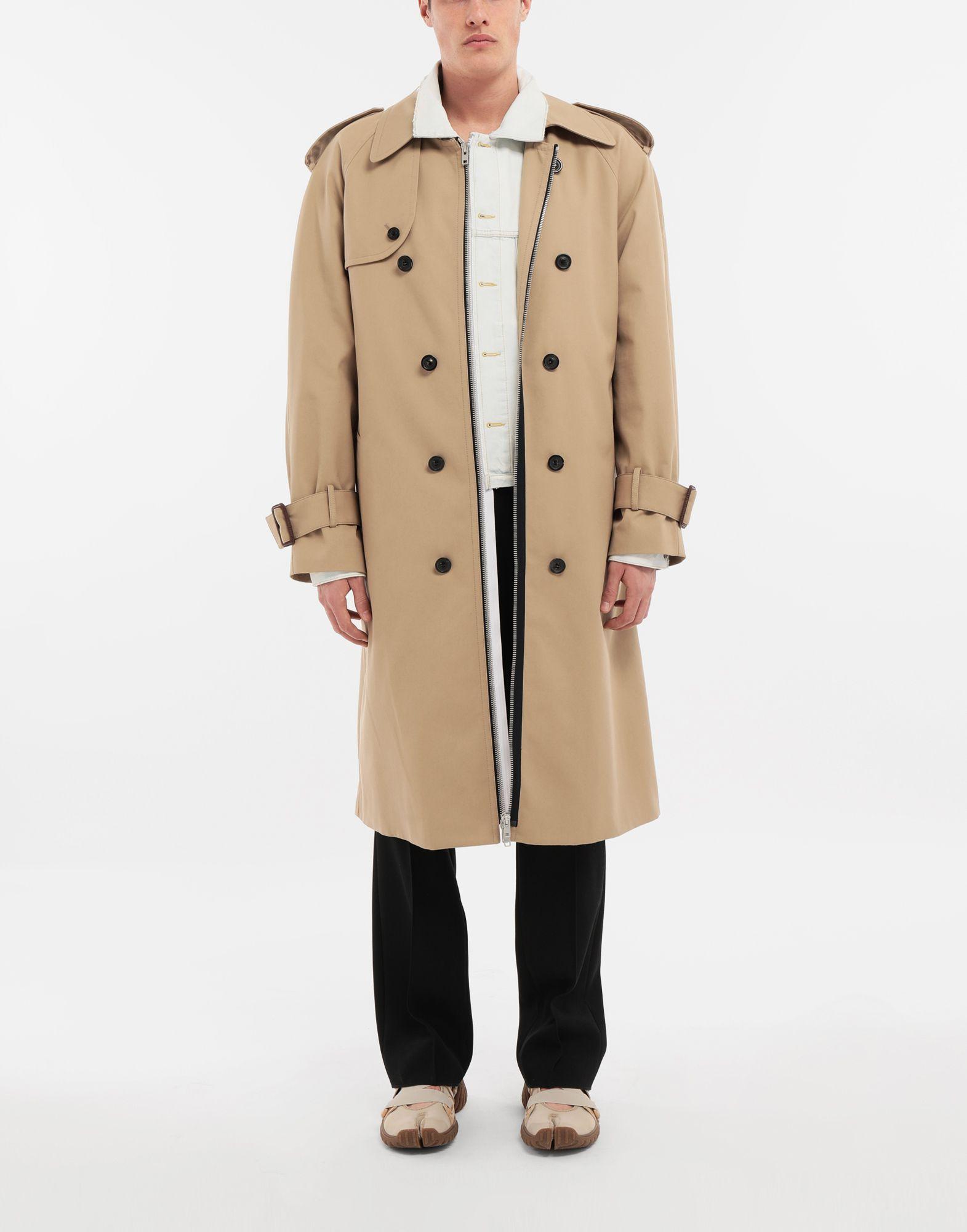 MAISON MARGIELA Zip In - Zip Out reversible denim trench coat Coat Man d