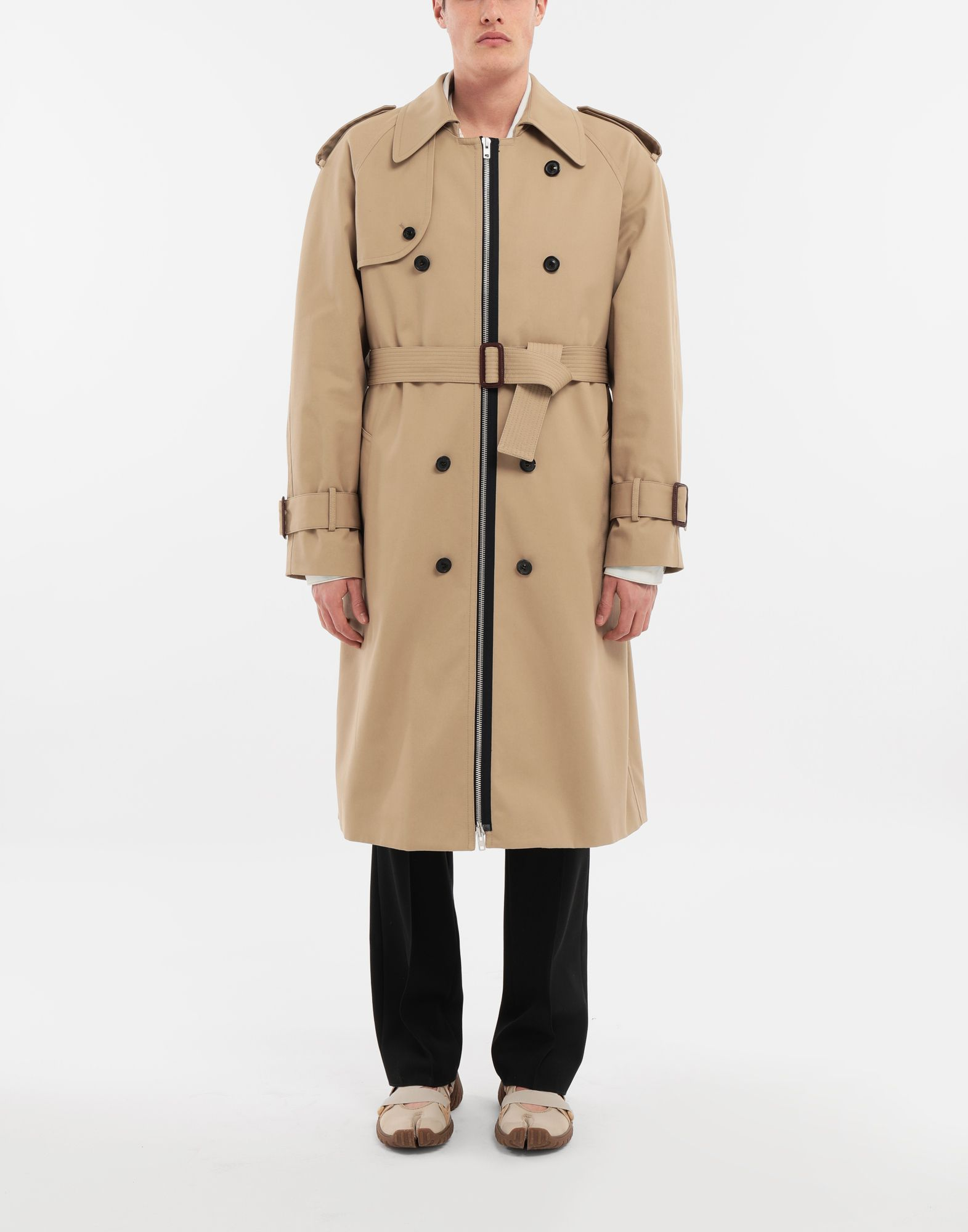 MAISON MARGIELA Zip In - Zip Out reversible denim trench coat Coat Man r