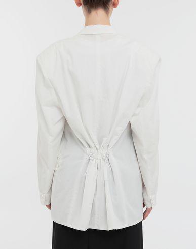 COATS & JACKETS Ruched back wool jacket