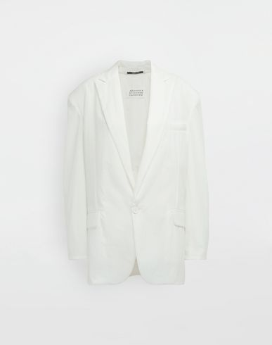 MAISON MARGIELA Ruched back wool jacket Blazer [*** pickupInStoreShipping_info ***] f