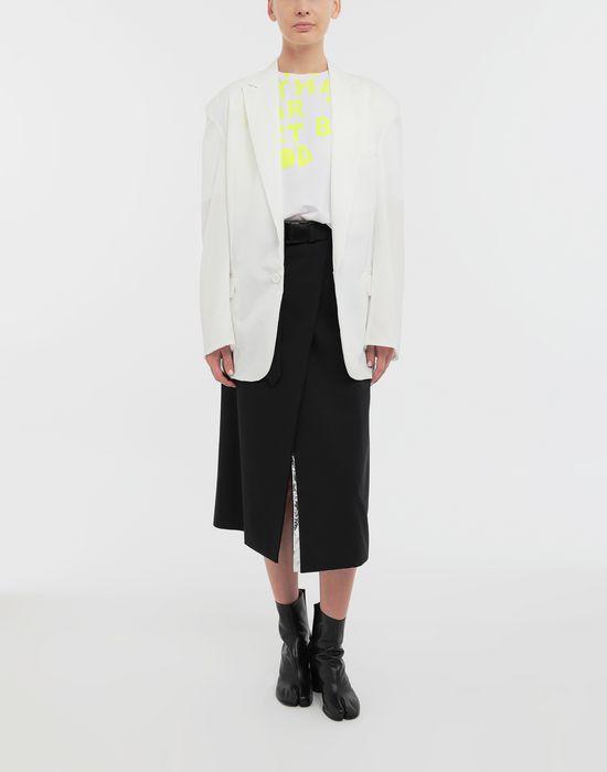 MAISON MARGIELA Ruched back wool jacket Jacket [*** pickupInStoreShipping_info ***] d