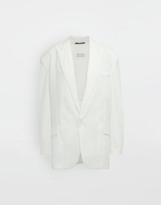 MAISON MARGIELA Ruched back wool jacket Jacket [*** pickupInStoreShipping_info ***] f