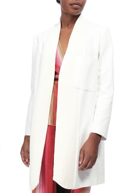 M MISSONI Dust coat White Woman - Front