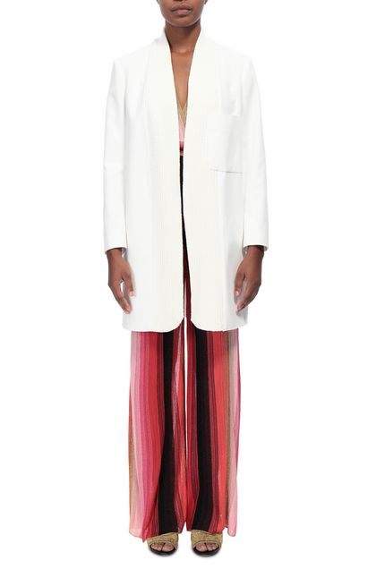 M MISSONI Легкое пальто Белый Для Женщин - Обратная сторона