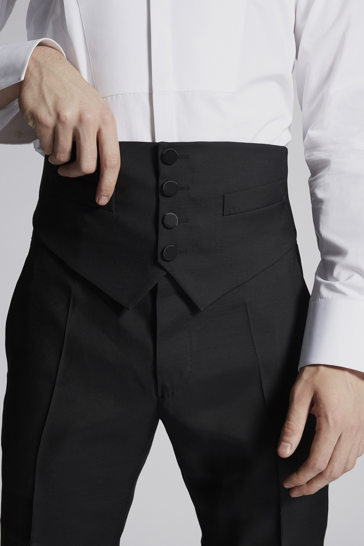 DSQUARED2 Silk Wool Waist Belt Vest Man