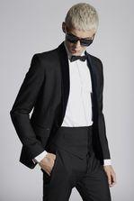 DSQUARED2 Silk Wool Waist Belt Waistcoat Man