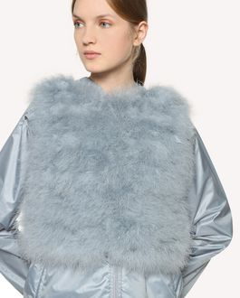 REDValentino Marabou feather vest